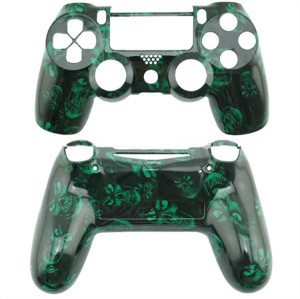 PS4 Wireless Controller Hydro Dipped Shell Mod Kit (Green Skull)
