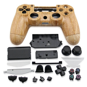 PS4 Controller Hydro Dipped Wood Grain Full Shell  (Light Color)