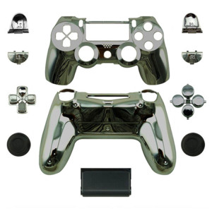 PS4 Wireless Controllers Shell Mod Kit (Chrome Black)