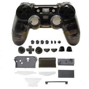 PS4 Wireless Controller Tansparent Housing Shell Mod Kit (Gray)