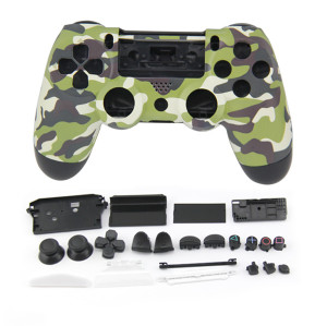 PS4 Wireless Controller Camouflage Housing Shell Mod Kit (Light Green)