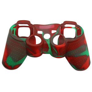 PS3 Controller Silicone Case Red+Green