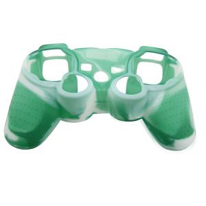 PS3 Controller Silicone Case Light Green+White