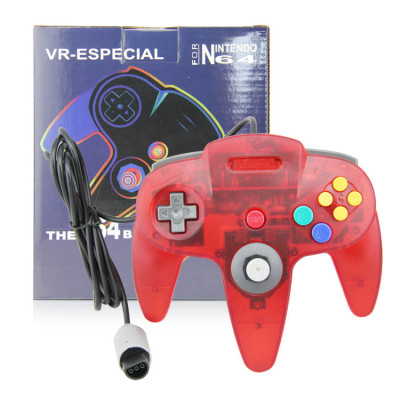 N64 Controller Joystick Gamepad (Crystal Red)