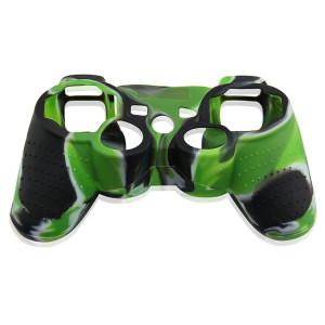 PS3 Controller Silicone Case Light Green+Black