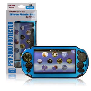 PS V2000 Controller Split Aluminum Case (Blue)