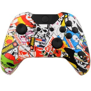 Xbox One Controller Hydro Dipped Housing Shell (Sticker Bomb)