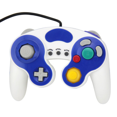 NGC Wired Controller White with Blue Color PP Bag