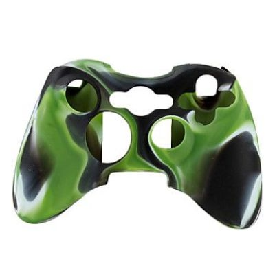 Xbox 360 Slim Camouflage Silicone Cover Case (Assorted Color)