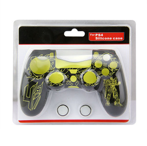 PS4 Controller Silicone Skin Case With Packaging Yellow+Black
