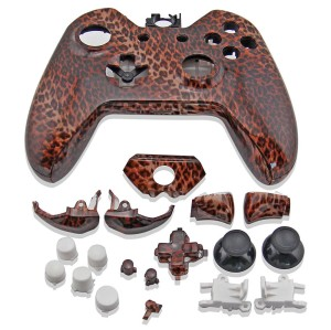 Xbox One Controller Hydro Dipped Housing Shell (Leopard Print)