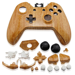 Xbox One Controller Wood Grain Housing Shell (Light Color)