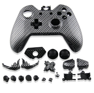 Xbox One Controller Hydro Dipped Housing Shell (Black Carbon)
