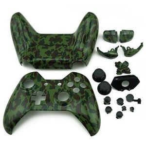 Xbox One Controller Hydro Dipped Housing Shell (Camouflage Green)