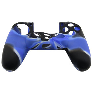 PS4 Controller Silicone Skin Case Blue+Black