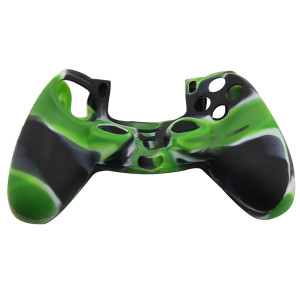 PS4 Controller Silicone Skin Case Green+Black