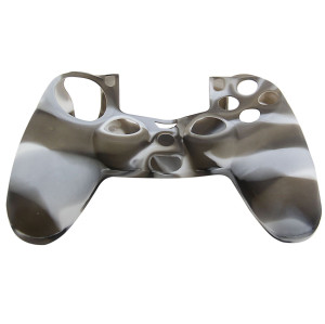 PS4 Controller Silicone Skin Case Gray+White