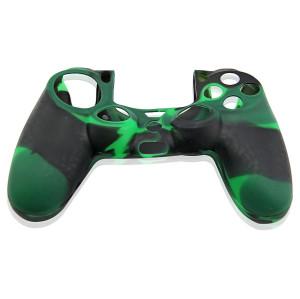 PS4 Controller Silicone Skin Case Green+Black