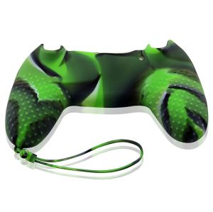 PS4 Colorful Controller Silicone Skin Case With Hand Rope Green