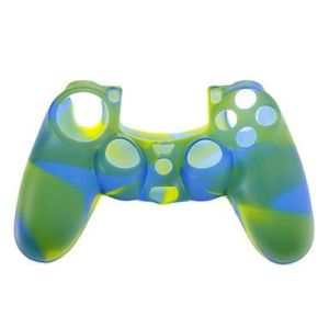 PS4 Controller Silicone Skin Case (Blue + Yellow + Green)
