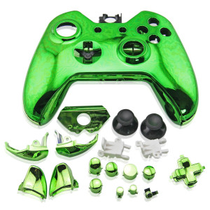 Xbox One Controller Electroplate Housing Full Shell Case (Green)