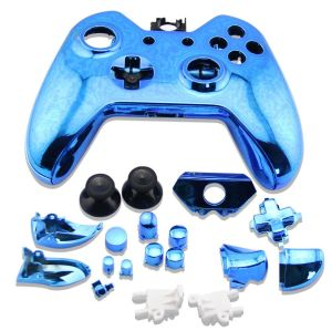 Xbox One Controller Electroplate Housing Full Shell Case (Blue)