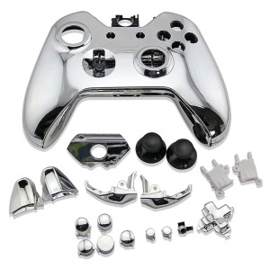 Xbox One Controller Electroplate Housing Full Shell Case (Silver)