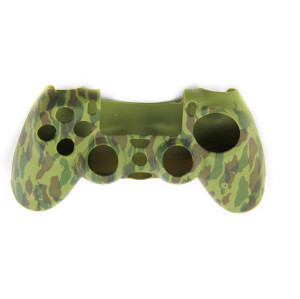 PS4 Controller Silicone Skin Case Camouflage Green