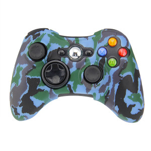 Xbox 360 Fat Controller Camouflage Silicone Skin Case (Mixed Color)