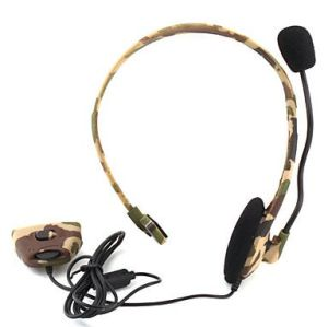 Xbox 360 Fat Wireless Live Camouflage Headphone Microphone Headset