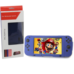 Nintendo Switch Console PU Leather Stand Case Cover (Blue Color)
