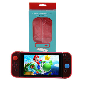 Nintendo Switch Transparent Crystal Protective Cover New Model Crystal Red