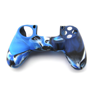 PS4 Controller Silicone Case -camouflage Blue