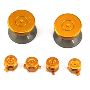 Aluminium 6 in 1 kit for ps4 controller -light gold