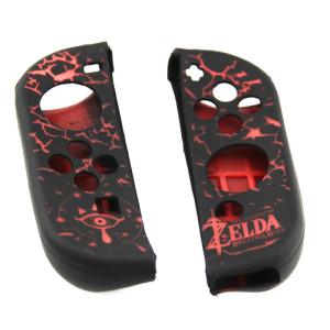 Nintendo Switch Joy-Con Controller Anti-slip Silicone Cover Protective Case (Black+Red)