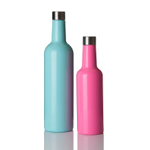 Everich 02547 Double Wall Stainless Steel Vacuum Insulated Wine Bottle 375/750ml