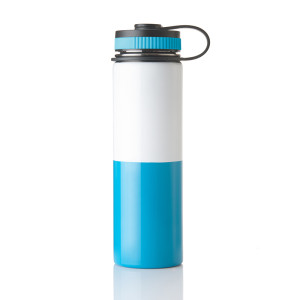 Everich D/W S/S Vacuum Insulated 2 Stitching Color Bottle with Flat Lid