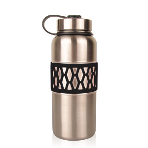 Everich  D/W S/S Vacuum Insulated Bottle with Silicone Sleeve 40oz