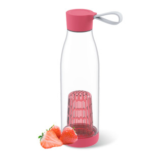 Everich 06738 Tritan Bottle with Silicone Handle Lid and Fruit Infuser 650ml