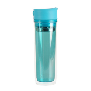 Everich Double Wall AS Tumbler with Button Lid and Tea Fliter 350ml