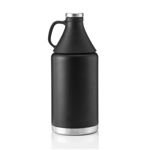 Everich 02527  D/W S/S Vacuum Insulated Beer Growler 64oz with Trumpet Lid