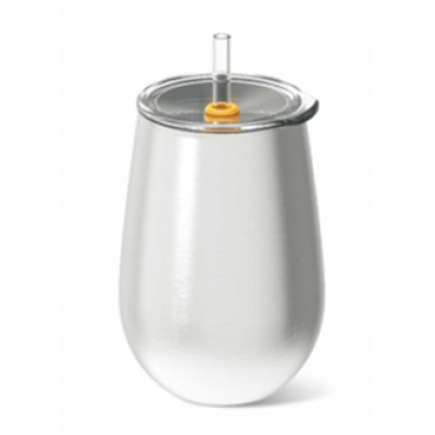 Everich 02548C Double Wall Stainless Steel Vacuum Insulated Wine Cup 8/12oz