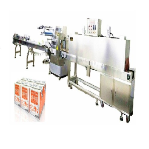2x3 Tetra Packed Milk Automatic Feeding and Shrink Packing Machine