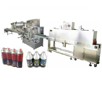 Bottles or Cans Shrink Packing Machine(2-screw-rod feeding and vertical end sealer)