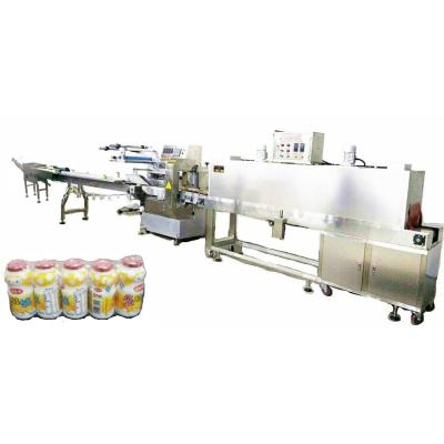 Collective Milk Bottles Automatic Feeding and Shrink Packing Machine