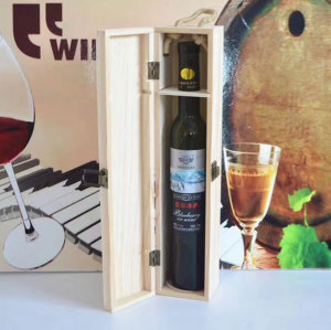 Custom Printed Recyclable Carrier single Bottle Wood Wine Box