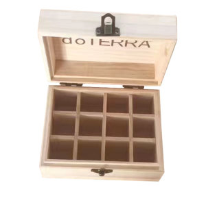 perfume wooden box without lid for essential oils