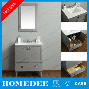 homedee grey 30 inch white vanity cabinet,wholesale high quality modern style bathroom vanity