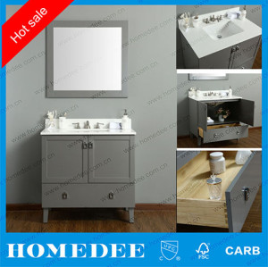 36 new style solid wood bathroom vanity,China factory made floor mounted bathroom vanity