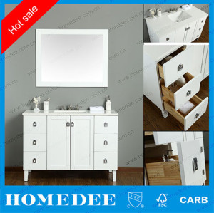 HOMEDEE 48inch white bathroom vanity,modern bathroom vanity furniture for Canada